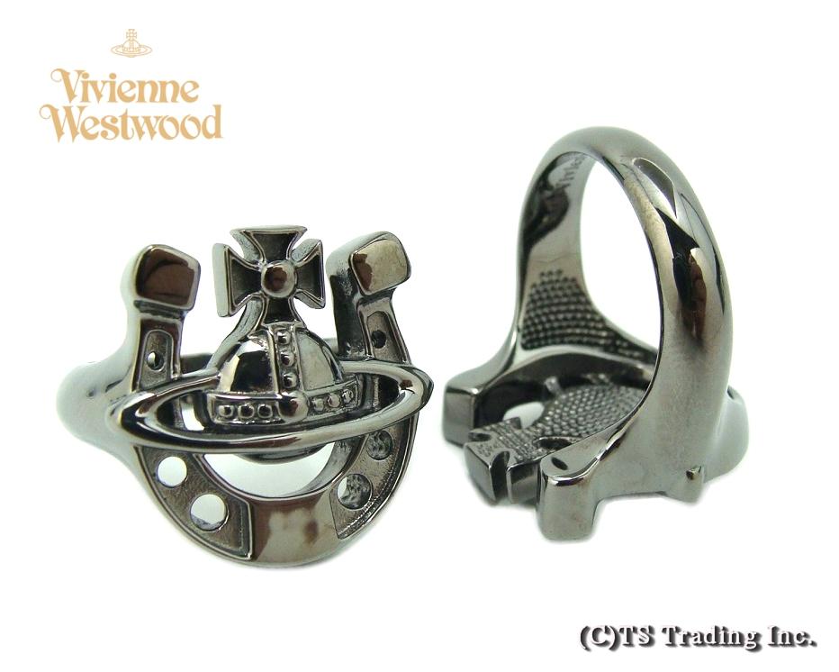 Vivienne Westwood ヴィヴィアンウエストウッド Gonzalo Orb Ring ゴンザロ 馬蹄形 オーブ リング SV925(ガンメタ) 指輪【あす楽対応】【YDKG-k】【W3】【送料無料】【smtb-k】