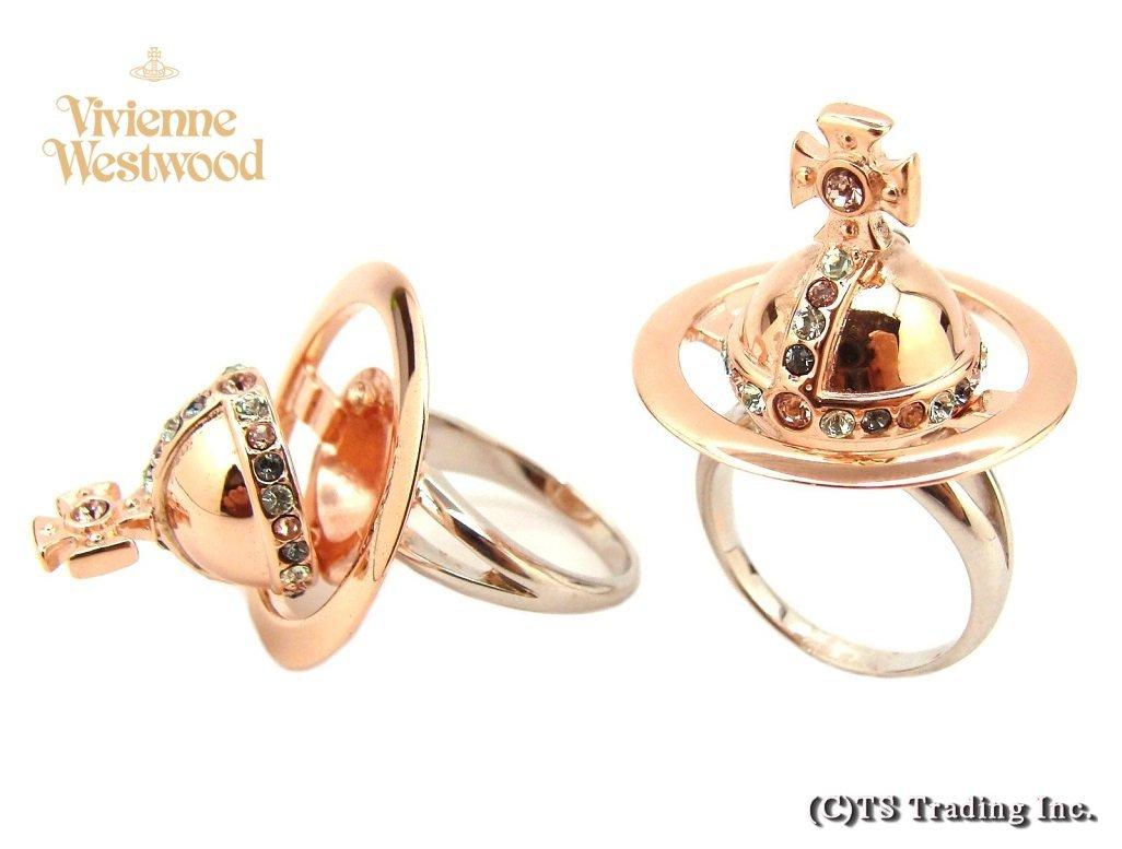 Vivienne Westwood ヴィヴィアンウエストウッド New Poison Orb Ring ポイズン オーブ リング SV925(Pink GOLD)【あす楽対応】【YDKG-k】【W3】【送料無料】【smtb-k】