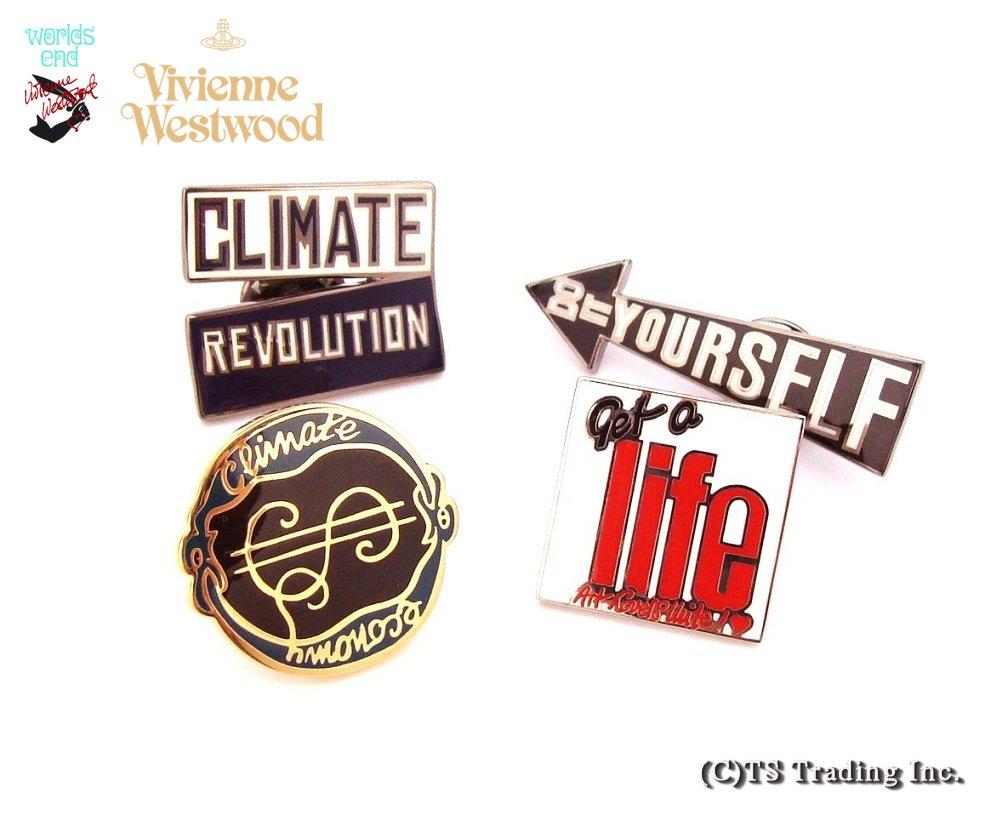 ◆Vivienne Westwood◆ヴィヴィアンウエストウッド★World's End New Pin Badge Setロンドン・ワールズエンド店 ピンバッジセット(4個組)【あす楽対応】【YDKG-k】【W3】【送料無料】【smtb-k】