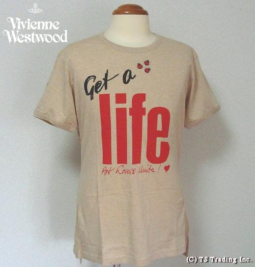 ◆Vivienne Westwood◆ヴィヴィアンウエストウッド★Get a Life Tee World's End Specialゲット ア ライフ Tシャツ by ワ―ルズエンド(Natural BR)【あす楽対応】【YDKG-k】【W3】【送料無料】【smtb-k】