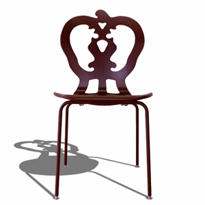 SILHOUETTE CHAIR VICTORIA VINTAGERED シルエットチェア ヴィクトリア ヴィンテージレッド お月見 音楽会 開店祝 特価 季節のご挨拶 EW-FA13-Mおゆうぎ会