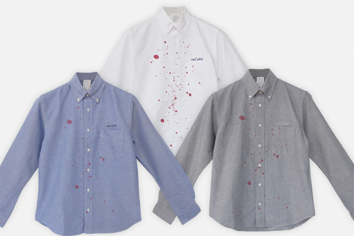RED WINE SHIRT LONG SLEEVE レッドワインシャツ ロングスリーブ Design Against Trend / デザイン アゲインスト トレンド 赤ワイン用シャツ/ボタンダウンシャツ/