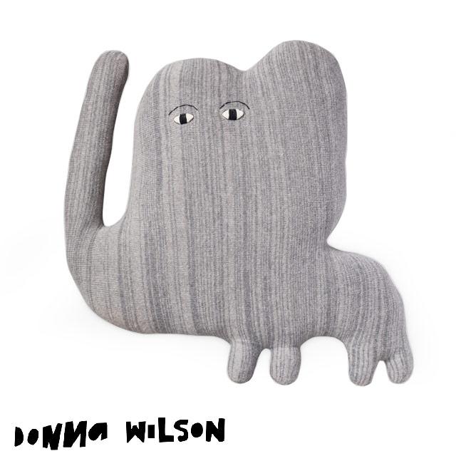 ドナ・ウィルソン ジャンボ・エレファント DONNA WILSON Jumbo Elephant 大きな象 ぬいぐるみ クッション 約65×65×20cm