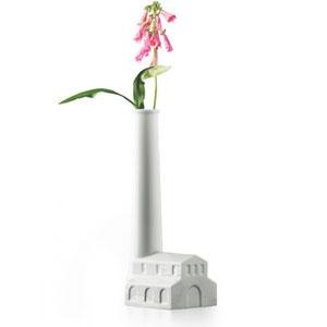 FACTORY ファクトリー デザイナー:QUBUS クブス 工場/煙突/花瓶/一輪挿し/フラワーベース/