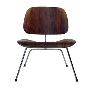 【送料無料】 EAMES チャールズ&レイ・イームズ LCM チェア / Lounge Chair Metal leg ウォールナット