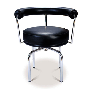 LC7 ダイニングチェア 回転椅子/swivel dining chairデラックスレザー