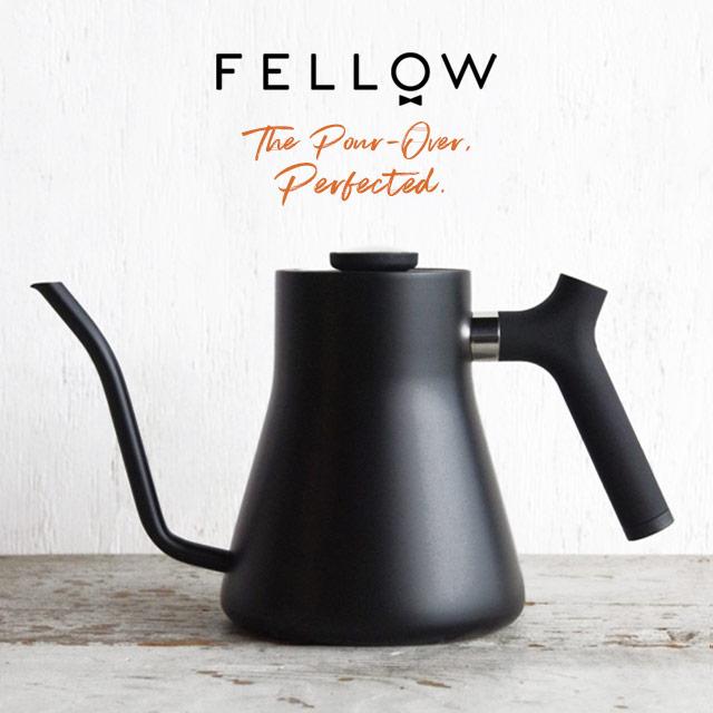 FELLOW ポアオーバーケトル スタッグ フェロー プアオーバー マットブラック 1L コーヒー ハンドドリップ 温度計