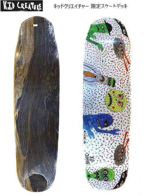 KID CREATUREキッドクリエイチャー限定数デッキデッキのみ(デッキテープ無し)スケートボードサーフスケート