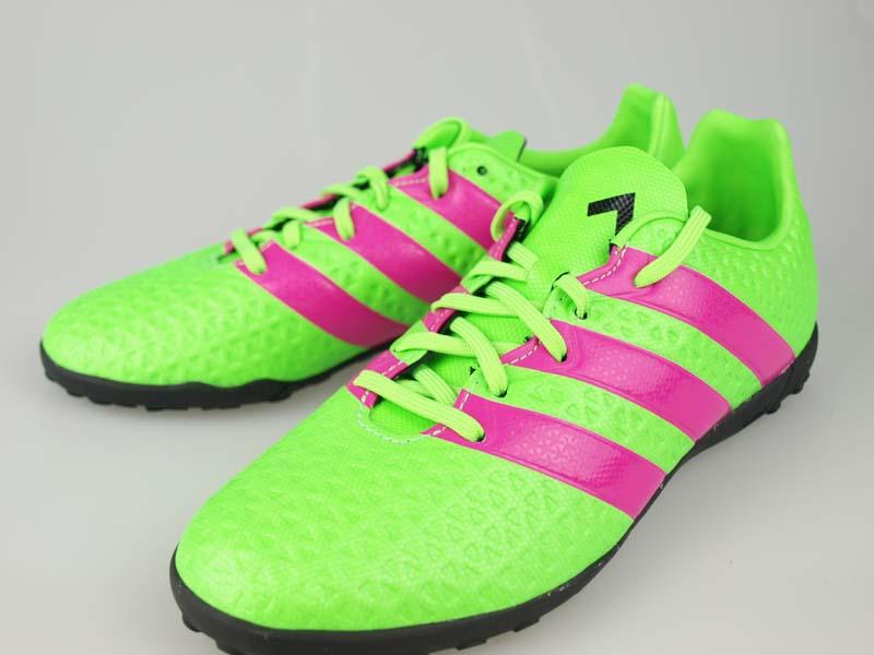 super popular 69de2 f4b90 Soccer youth turf Adidas ace 16.4TF J solar green / shock pink S16/ core  black AF5079