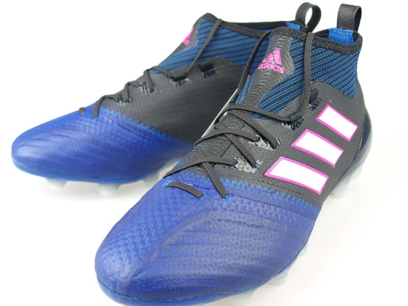 more photos 9f5bf 2e995 Soccer spikes Adidas ace 17.1 Japan prime knit HG core black / running  white / blue BA9817