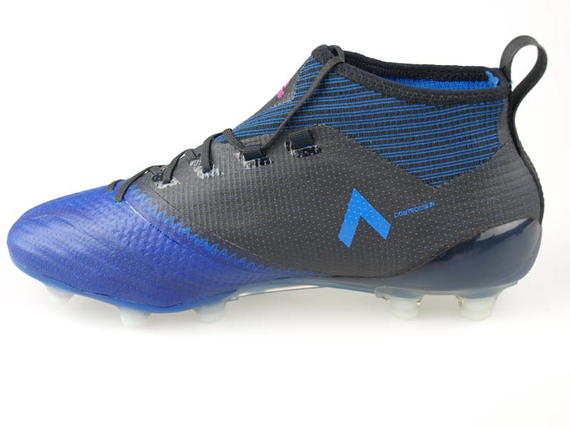 more photos e468a 30899 Soccer spikes Adidas ace 17.1 Japan prime knit HG core black / running  white / blue BA9817