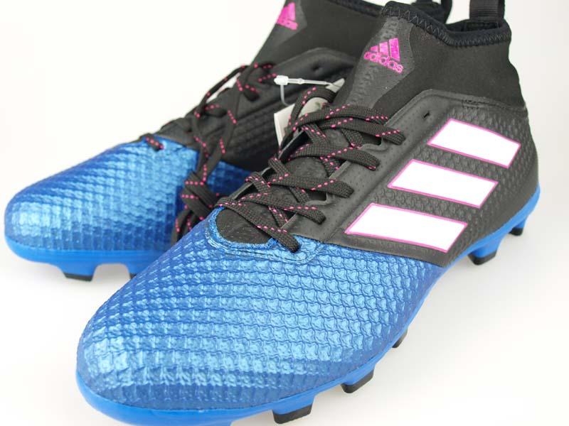 best quality ae647 32239 Soccer spikes Adidas ace 17.3 prime mesh HG core black / running white /  blue BA9818