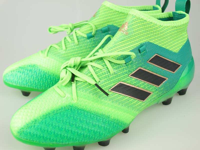 separation shoes 4ab68 c460b Soccer spikes Adidas ace 17.1 Japan prime knit HG solar green / core black  / core green S17 BB0936
