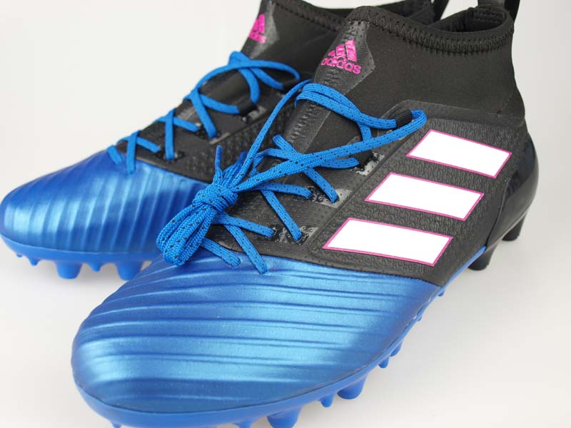 size 40 df219 f849d Soccer spikes Adidas ace 17.2 Japan prime mesh HG core black / running  white / blue BB2132