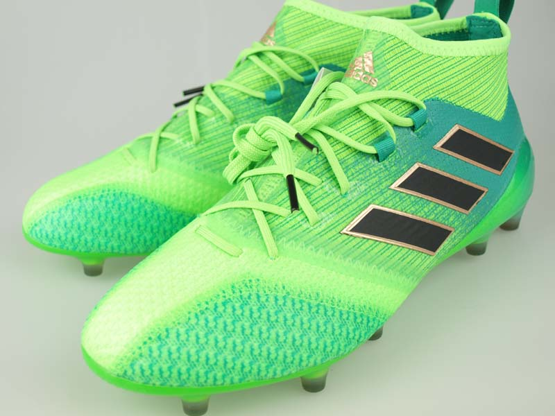 buy online 2b04c 849f3 Soccer spikes Adidas ace 17.1 prime knit FG/AG solar green / core black /  core green S17 BB5961