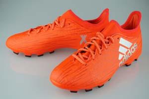 new style ff400 8e131 Football spike adidas-x 16.3 HG solar red / silver met / Haile thread. F13  S79550