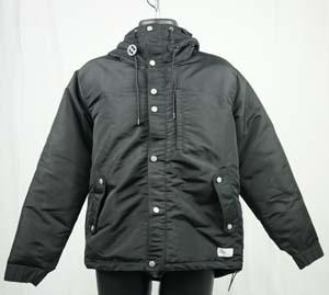 サッカー フットサル コート ボネーラ タスラン中綿ジャケット ブラック JKT-004