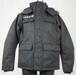 サッカー フットサル トレーニング ウェア アスレタ 3LAYER中綿ジャケット ブラック 04105