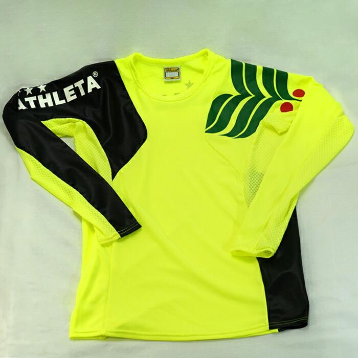 サッカー フットサル ウェア 売り込み ATHLETA アスレタ ジュニア カラープラクティスシャツ フラッシュイエロー FYE 2020モデル 02308J 長袖シャツ