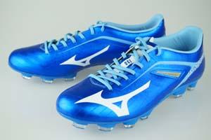 サッカースパイク ミズノ バサラ 002MD ブルー/ホワイト P1GA1463-01
