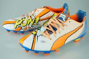 サッカー スパイク プーマ エヴォパワー 1.2 POP HG ホワイト/オレンジクラウンフィッシュ/エレクトリックブルーレモネード 103484-01