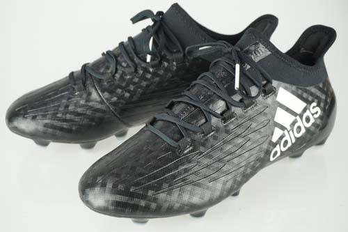 サッカー スパイク アディダス エックス16.1FG/AG コアブラック/ランニングホワイト/コアブラック BB5620
