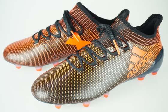 17FW サッカー スパイク アディダス エックス 17.1 FG/AG コアブラック/ソーラーレッド/ソーラーオレンジ S82288