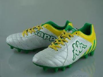 足球的穗狀花序 Kappa 格蘭德 5 白色和綠色 KPFGM013-0070