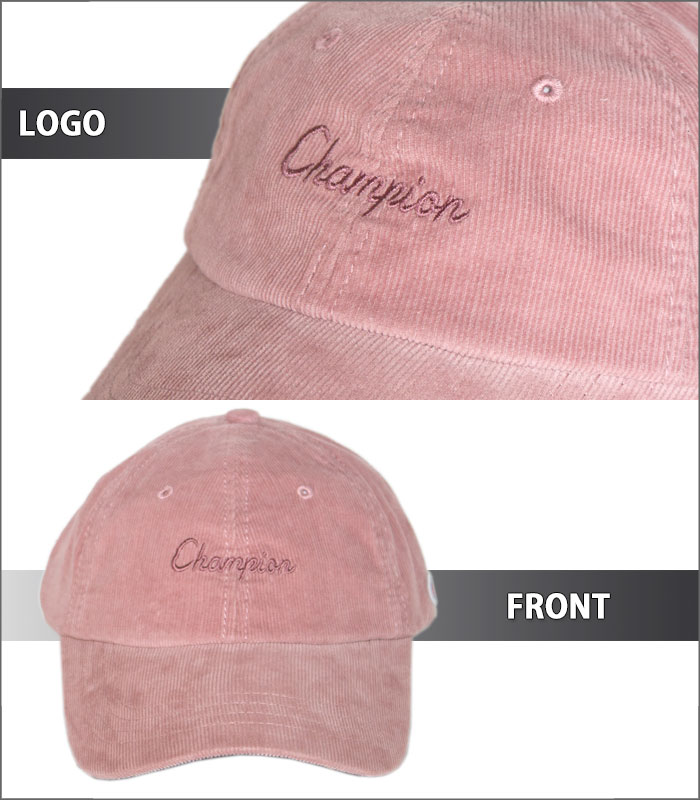 ba142865e36 The corduroy cap that the logo embroidery of the casual flowing script  accentuates