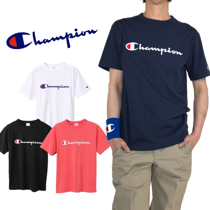 971ca505faf3 The simple T-shirt that the logo of the champion was printed on the chest