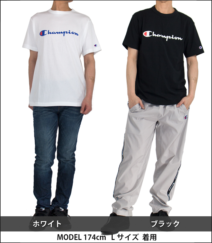 d8128862bcae The simple T-shirt that the logo of the champion was printed on the chest