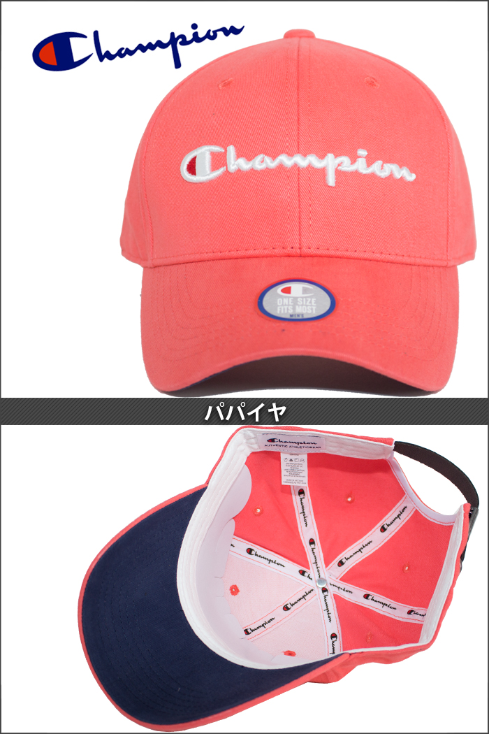 huge discount 4ac4d 4cc8b The strap back cap that the logo embroidery of the casual flowing script  accentuates