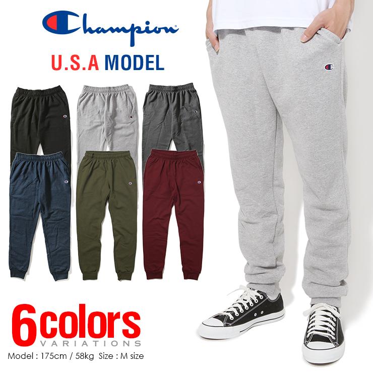 8cd119eee134 Champion sweatpants mens Womens solid CHAMPION sweat jog — pants USA model  large size back brushed ...