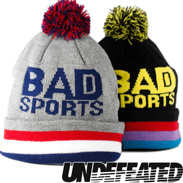 9af09f3aa I present UNDEFEATED Andy fee Ted bad sports plonk in ニットワッチ / knit hat  knit cap hat / black black / gray BAD SPORTS POM-POM BEANIE CAP/ ...