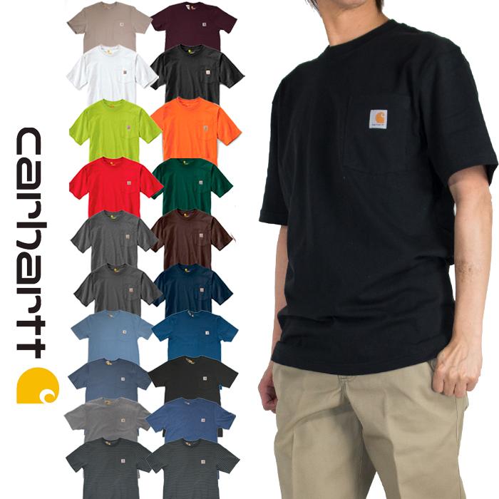 5891bd26c13 Carhartt ) CARHARTT K87 Workwear Pocket T-Shirt Men s worker Pocket short  sleeve shirt 4 colors white grey brown black.