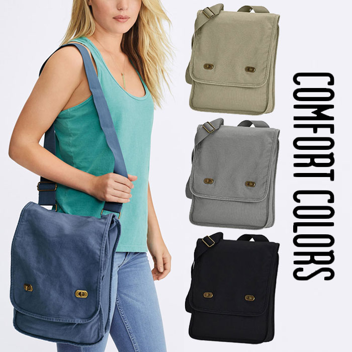 eebaf5cc0d Comfort colors canvas field bag lady men shoulder bag adult light weight  cute stylish brand Shin pull popularity casual high school student  commuting ...