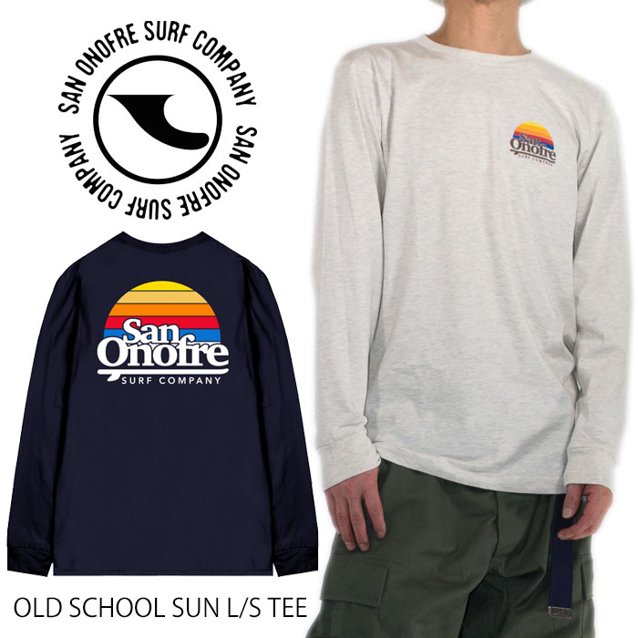 San Onofre surf Company logo T-shirt long sleeves T-shirt SAN ONOFRE SURF  COMPANY T-shirt American casual street Father's Day present