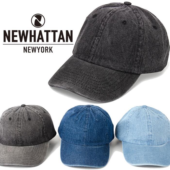 ニューハッタン キャップ NEWHATTAN 6パネルキャップ ネコポス 現品 CAPS ローキャップ チノキャップ コットンキャップ デニム メンズ アメカジ ネイビー レディース 父の日 無地 ブラック ブルー ギフト まとめ買い特価