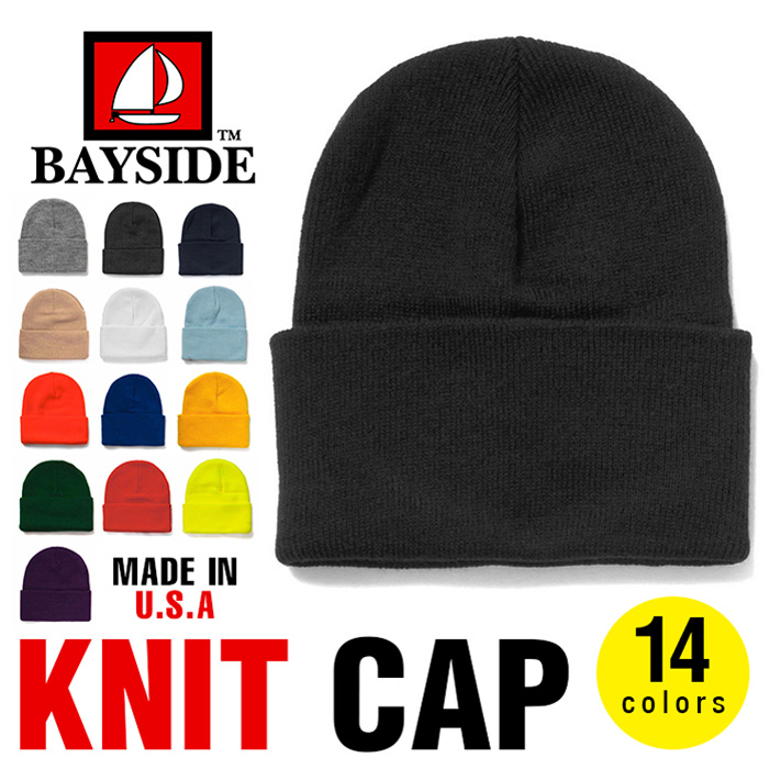 cee6318c321 PLAYERZ  Bay side knit hat BAYSIDE knit cap men gap Dis plain fabric ...