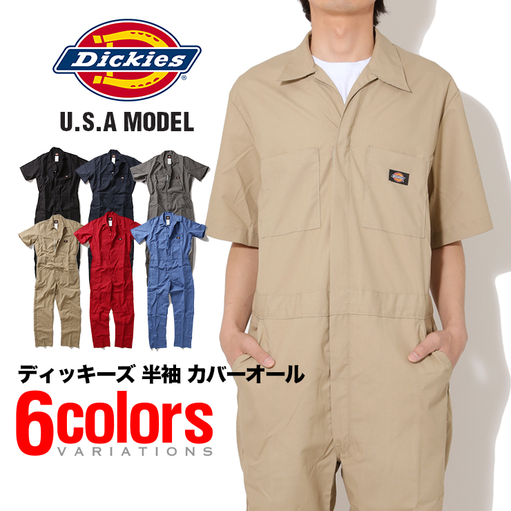 94d1d8343e8 DICKIES Dickies short sleeve coveralls tethering Workwear work wear  coveralls fashionable S.M.L.XL.2XL 33999 mens Womens casual work clothes  Workwear ...