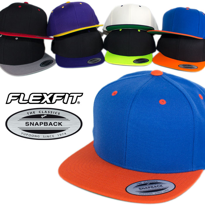 108e6a27ced It is the snapback of 2 tone colors of  FLEXFIT (flexible fitting) brand  Yupoong  you of the American hat pop. With the classic cap of the flat  visor of 6 ...