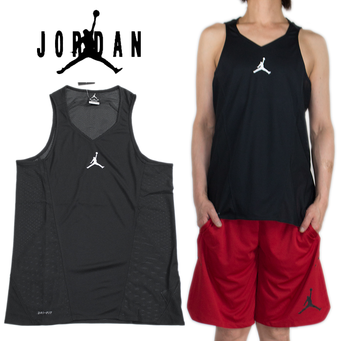79a5f989461 NIKE AIR JORDAN Nike Air Jordan mesh tank top no sleeve Jordan men black  black Father's ...