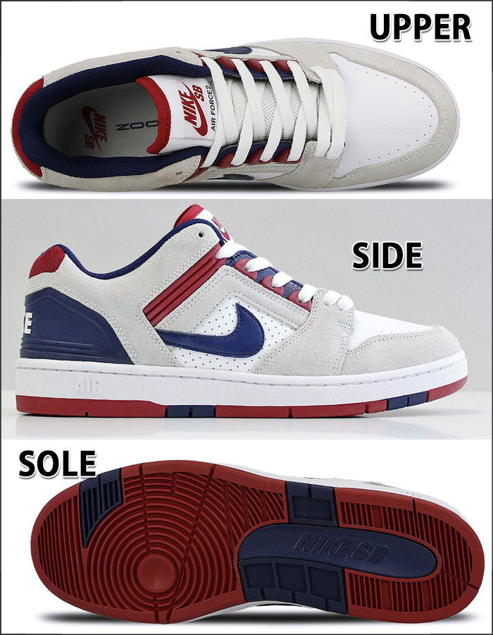 NIKE SB Nike sneakers air force 2 LOW Kie Ney's B sneakers shoes men American casual white AIR FORCE II LOW Father's Day present