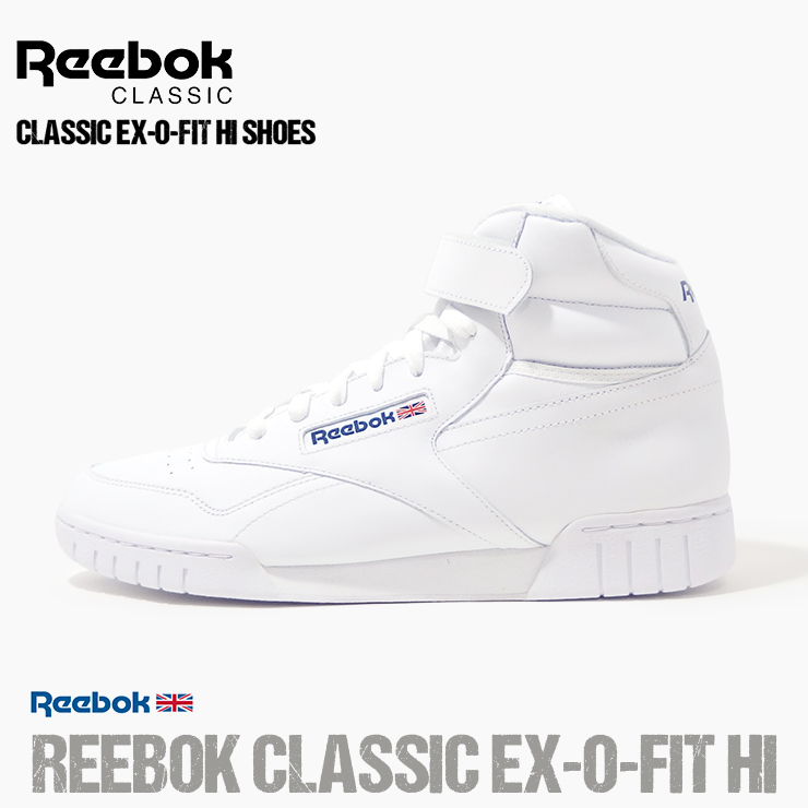wholesale dealer 2c53a 4c8d5 Reebok higher frequency elimination sneakers Reebok CLASSIC EX-O-FIT HI  エックスオーフィットハイホワイト white shoes shoes sneakers big size jogging training  sports ...