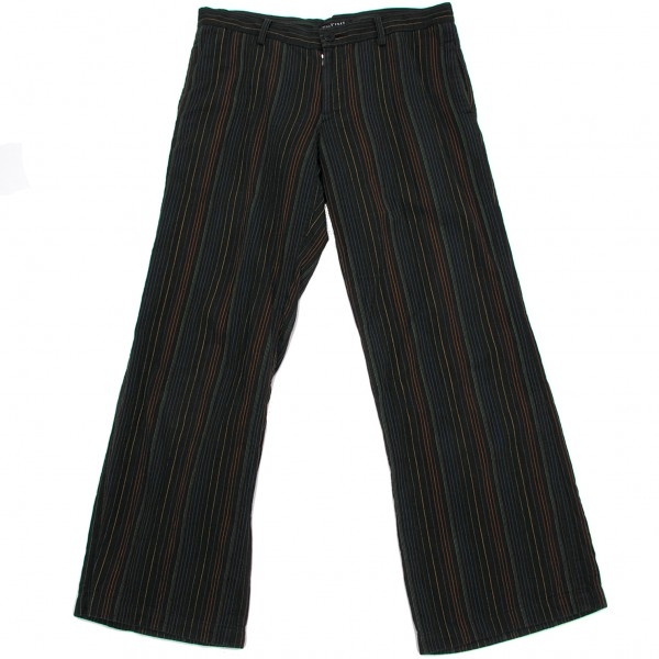 Wise bis Remi Y's bis LIMI cotton striped pants black series S