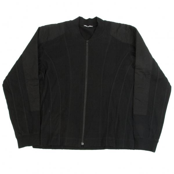 【SALE】イッセイミヤケISSEY MIYAKE 綿天竺飾りキルトステッチジャケット 黒2