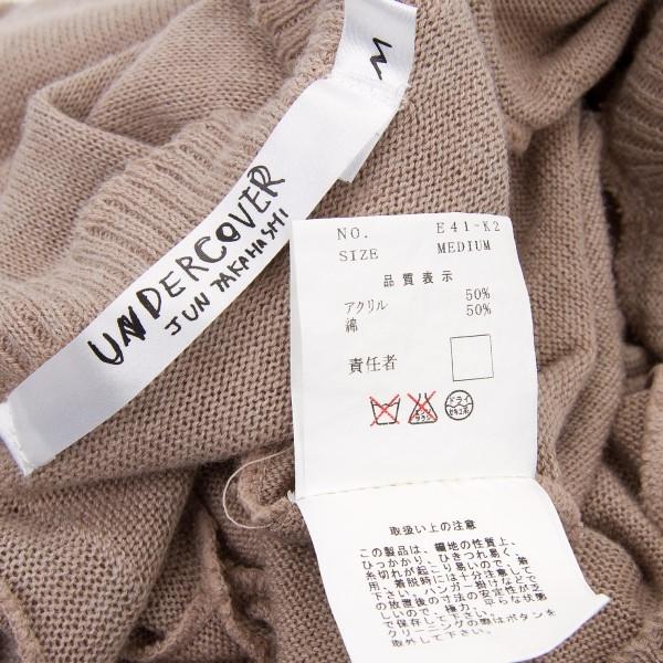 下面覆蓋物UNDERCOVER languid期歪斜對襟毛衣摩卡M
