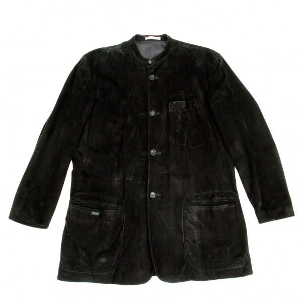 【SALE】パパスPapas スタンドカラーラムスエードジャケット 黒L【中古】 【メンズ】