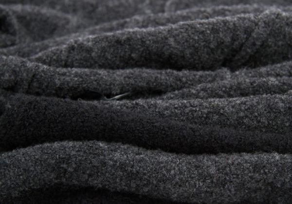 Y's 生活食品与生活设计边境围巾灰黑色