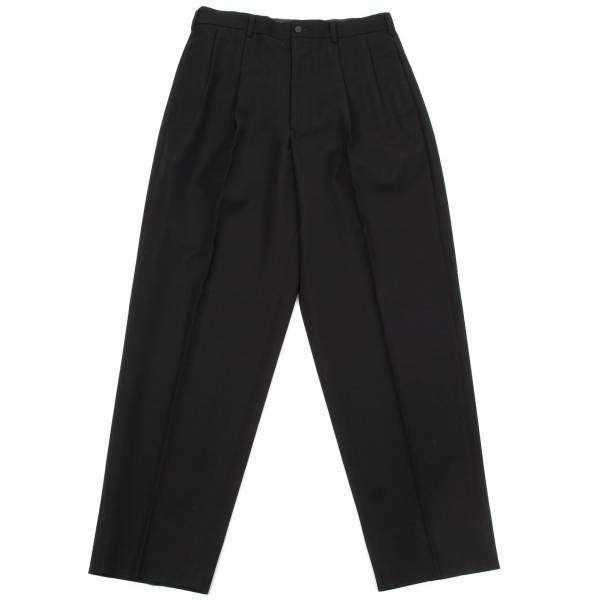 ワイズフォーメンY's for men ウールギャバ2タックパンツ 黒L【メンズ】